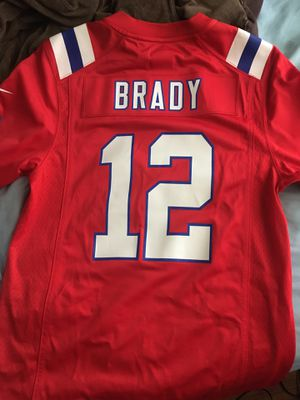 Tom Brady Red Patriots Jersey- Adult Small for Sale in Mesquite, TX