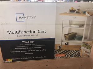 Brand New Never Used Rolling Multifunction cart /rolling island for Sale in Payson, AZ