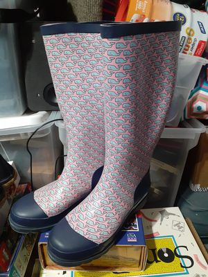 Vineyard Vines Whalies rain boots size 6 girls for Sale in Austin, TX