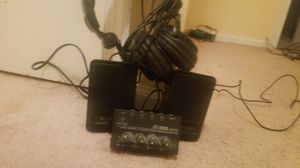 Twin set USB Amazon Speakers and High Quality headphones set with amplifier controls for Sale in Sully Station, VA