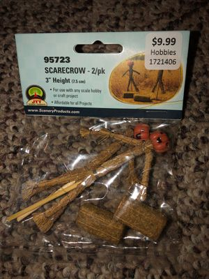 2 Scarecrows for use with any scale scene or hobby for Sale in Plainfield, IL