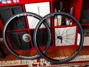 Campagnolo Eurus G3 wheel set with 10 speed campagnolo casset for Sale in Hillsboro, OR