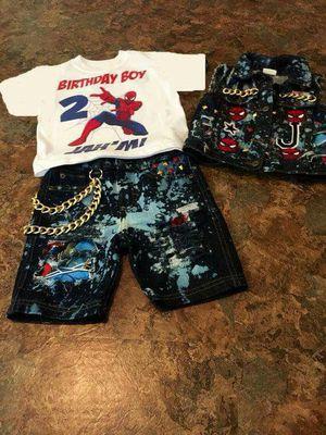 Spider man 3 piece custom boy birthday set for Sale in Columbus, OH