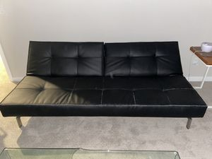 Black Leather Futon for Sale in Gilbert, AZ