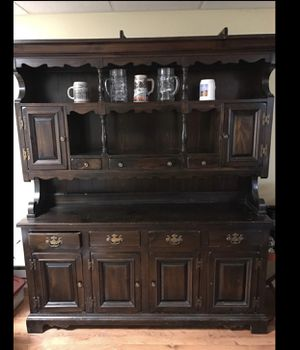 Wooden antique hutch for Sale in Ridgefield Park, NJ