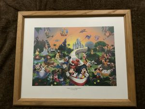 "DISNEY 2005 "" A MAGICAL TIME IN A MAGICAL PLACE"" FRAME LITHO WITH COA for Sale in Henderson, NV"