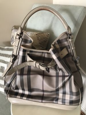 Authentic Burberry check hobo bag for Sale in Fairfax, VA