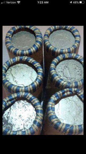 Huge RARE 6 Unsearched 1883-1938 Liberty V & Buffalo Nickels Mixed Rolls- Totaling 240 Coins- Some High Grade Ends- Original Collection From Grandfat for Sale in Reston, VA