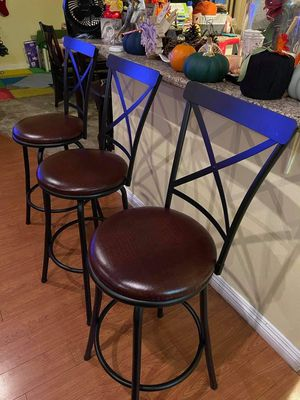 """3 Barstools """"29 inches TALL $160.. OBO like NEW for Sale in Anaheim, CA"""