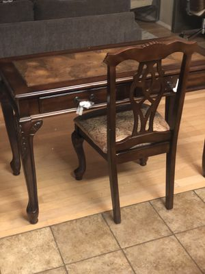 Brand new elegant desk and chair set. Retails for over $500 for Sale in Fowler, CA