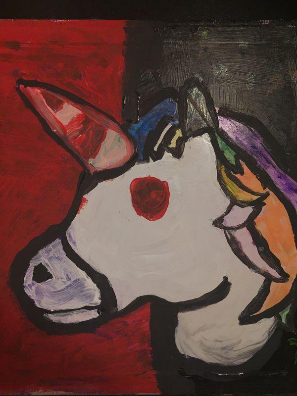 Red eyed unicorn