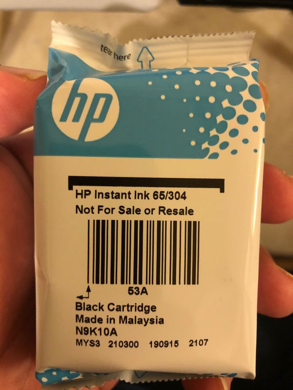 HP instant ink black and colored for half the price
