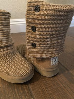 UGG Classic Cardy Knit Boot Size 7 for Sale in Chandler, AZ