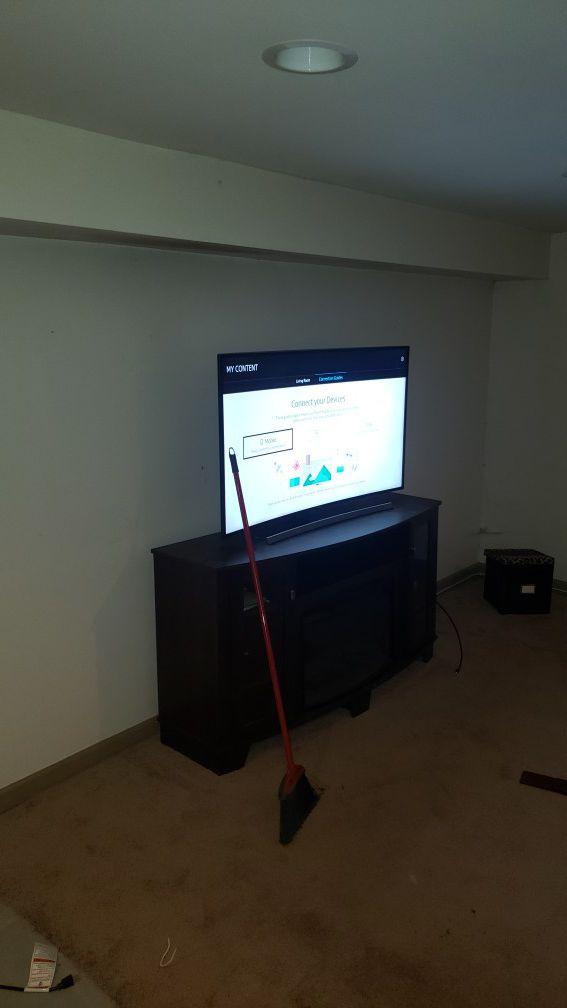 Curved 56 flat screen