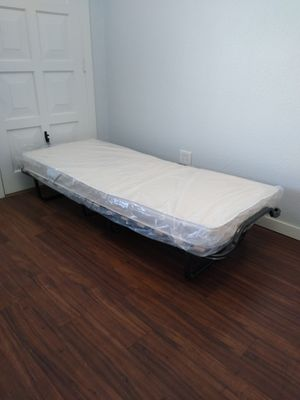 Twin memory foam mattress + twin foldable bed frame - Brand New - Delivery available for Sale in Phoenix, AZ