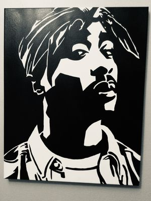Tupac 16x20 inches Hand Painted canvas for Sale in Pompano Beach, FL