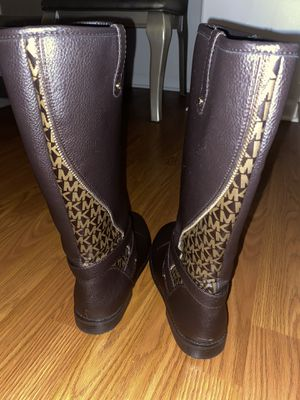 Michael Kors Dark Brown and Beige Boots - Girls Size 5 for Sale in Aurora, IL