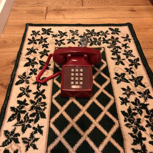 Restored Red Western Electric 2500 Touchtone Desk Telephone for Sale in Arlington, VA
