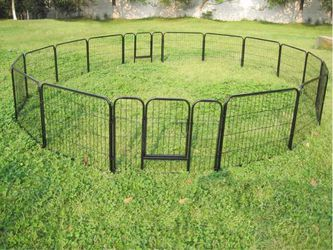 New 24 inch tall x 32 inch wide each panel x 16 panels heavy duty exercise playpen adjustable fence safety gate dog cage crate kennel for Sale in South El Monte,  CA