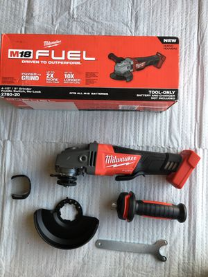Milwaukee M18 FUEL 18-Volt Lithium-Ion Brushless Cordless 4-1/2 in. / 5 in. Grinder with Paddle Switch (Tool-Only) for Sale in Phoenix, AZ