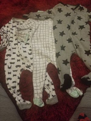 6 to 9 month baby boy sleepers (7 of them) for Sale in San Antonio, TX