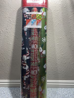 Holiday time Premium reversible foil gift wrap for Sale in Tracy, CA