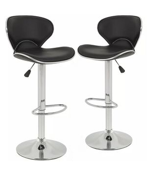 (Still Available) Set of 2 Leather Modern Bar Stools for Sale in Casselberry, FL