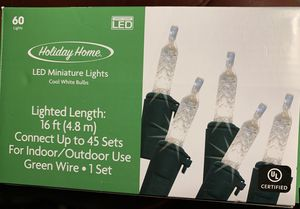 Cool white LED 60 twinkle lights $3 for Sale in Leavenworth, WA