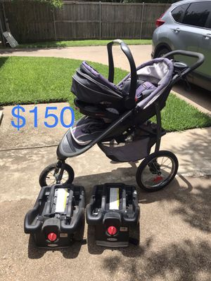 Graco Click Connect Jogging Stroller and Infant Car Seat for Sale in DeSoto, TX
