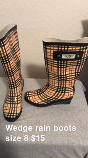 Wedge rain boots for Sale in Grand Prairie, TX