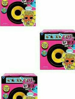 NEW Lot of 3 LOL Remix Hair Flip Doll Boxes for Sale in Copperas Cove,  TX