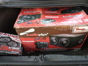 Bass boost combo package audio pipe for Sale in Fresno, CA