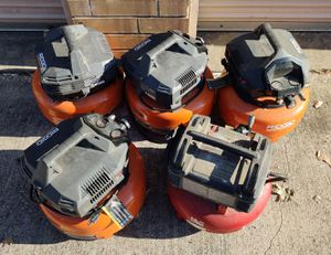 5 Compressors for parts Ridgid & Porter Cable for Sale in Irving, TX