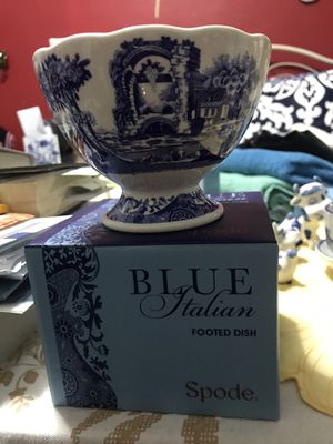 Spode Italian blue footed dish for Sale in New York, NY