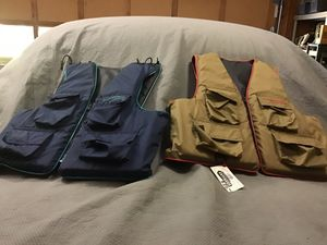Fishing vests xl and xxl for Sale in Woodstock, GA
