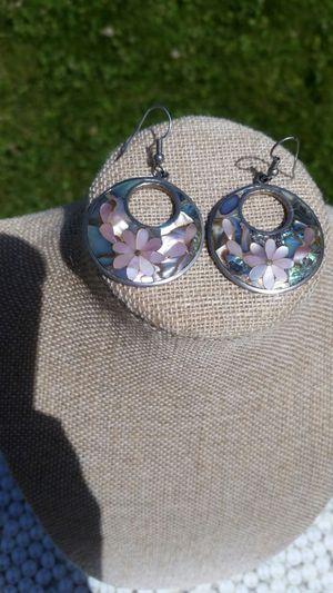 Sterling Silver Abalone & MOP Flower Earrings for Sale in Wenatchee, WA