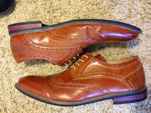 Size 12 brown wingtip dress shoes by Bruno Marc for Sale in Peoria, IL