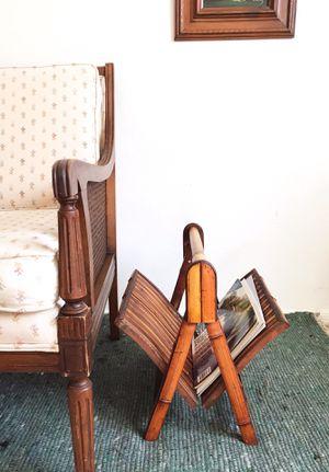 Vintage boho folding bamboo magazine holder/rack for Sale in Phoenix, AZ