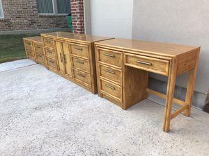 Lea The Bedroom People Dresser & Mirror with Nightstands & Desk Furniture Set for Sale in McKinney, TX