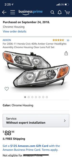 Honda Civic headlights 2006-2011 for Sale in Peabody, MA