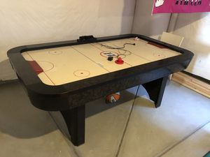 Air hockey table good condition, everything works come with one puck and two hand disks for Sale in Broomfield, CO