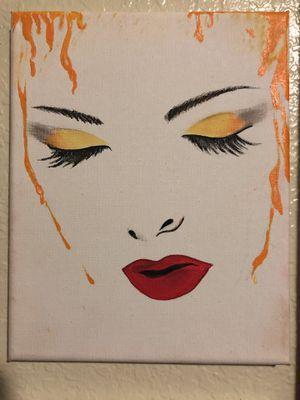 Makeup canvas vanity for Sale in San Pedro, CA
