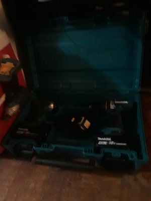 Makita 18 volt impact and drill with charger and 3 batteries $150 obo for Sale in Kent, WA