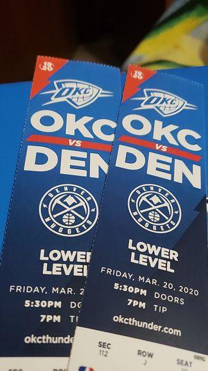 THUNDER VS NUGGETS for Sale in Oklahoma City, OK
