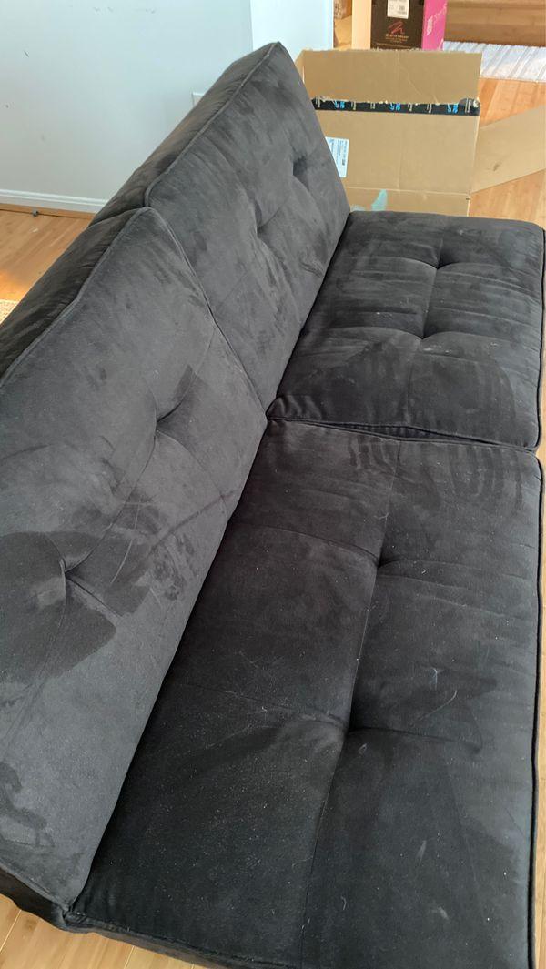 Futon Sofa Black - Room Essentials