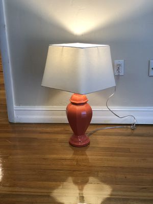 Coral / Peach color Lamp and shade for Sale in Miami, FL