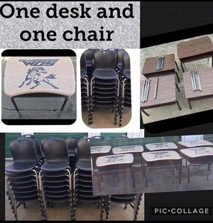 One school desk and one kids chair for Sale in Mesquite, TX