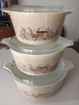 Vintage Pyrex Forest Mushroom Bakeware for Sale in Bonney Lake, WA