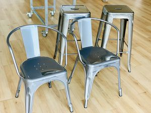 Metal Chair & Barstool Set for Sale in Washington, DC