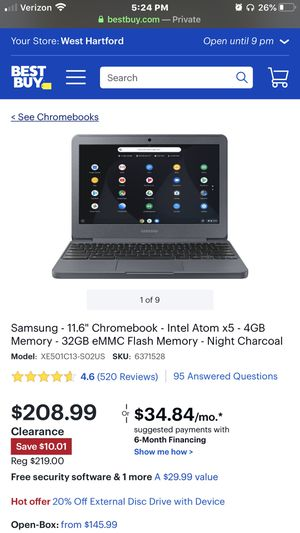 NEW IN BOX NEVER OPENED SAMSUNG CHROMEBOOK for Sale in Oxford, CT
